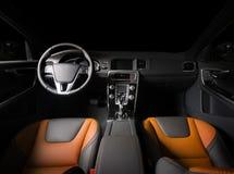 Modern sport car interior Stock Images