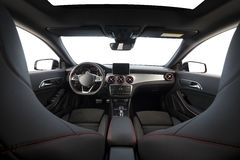 Modern sport car interior Royalty Free Stock Images