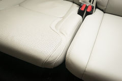 Modern sport car  red leather interior Royalty Free Stock Image