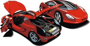 Modern sport cars (my original design) vector illustration