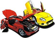 Modern sport cars (my original design) royalty free illustration