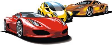 Modern sport cars (my original design) stock illustration