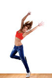 Modern sport dancer Stock Images