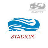 Modern sport stadium or arena icon Royalty Free Stock Photos