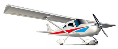 Modern sportief vliegtuig Royalty-vrije Stock Foto