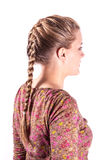 Modern sporting hairstyle. Beauty sporting hairstyle rear view isolated on white Stock Photo