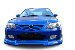 A modern sportive car. A modern model of a sportive car over white background Stock Images