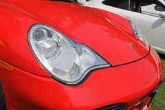 Modern sports car front detail Royalty Free Stock Image