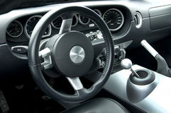 Modern sports car interior Stock Images
