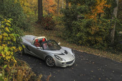Modern sports car. A Lotus Elise, modern mid-engine sports car made in England still being produced but the 2015 on model Elise 111 is sold in the United States Stock Photography