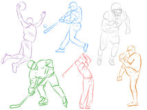 Modern Sports Icons Royalty Free Stock Image