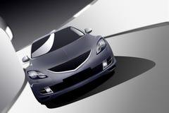 Modern Sports Sedan. Sports sedan driving through tunnel Royalty Free Stock Photography