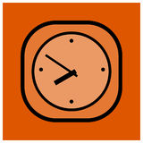 Modern sporty clock Stock Images