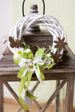 Modern Spring wreath. In flowershop. easter wreath Royalty Free Stock Photo
