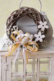 Modern Spring wreath. In flowershop. easter wreath Stock Images