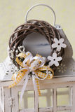 Modern Spring wreath. In flowershop. easter wreath Royalty Free Stock Images