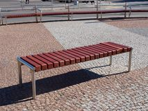 Modern square bench Stock Photos