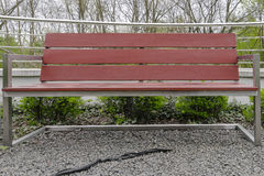 Modern square bench Royalty Free Stock Photo