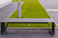 Modern square bench Royalty Free Stock Image