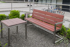 Modern square bench Royalty Free Stock Photos