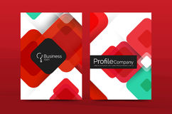 Modern square business annual report cover template Royalty Free Stock Photo