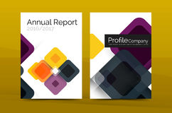 Modern square business annual report cover template Royalty Free Stock Photos