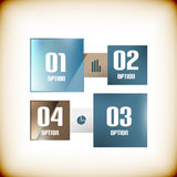 Modern square business banner design template Stock Photo