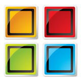 Modern square icon Stock Photo