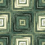 Modern square patterns in style crayon sketch in beige and dark green Royalty Free Stock Image