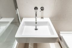 Modern square shape hand wash basin Royalty Free Stock Photography