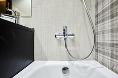 Modern square sink in the bathroom, kitchen royalty free stock photo
