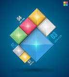 Modern squares design banner. Can be used for Book cover, Graphics, Lay out, Content page Royalty Free Stock Photos