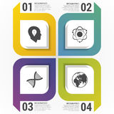 Modern squares. Infographic design template. Vector illustration Royalty Free Stock Image