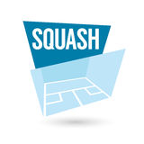 Modern squash sign. Clipart with modern squash sign Stock Image
