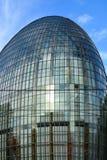 Modern stål- och exponeringsglaskupol royaltyfria bilder