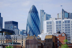 The modern 30 St Mary Axe Stock Photography