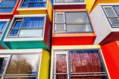 Modern stackable student apartments called spaceboxes in Almere, Netherlands Stock Image