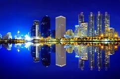 Modern stad Arkivfoto