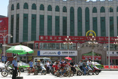 Modern stad av Kashgar, Xinjiang, Kina Arkivbilder