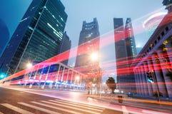 Modern stad för Shanghai Lujiazui finans- & handelzon Royaltyfria Foton
