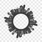 Modern stad för vektor Royaltyfri Bild