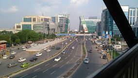 Modern stad Gurugram Arkivfoton