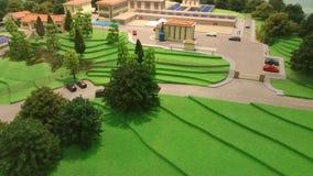 Modern stad i miniatyr Royaltyfria Bilder