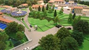 Modern stad i miniatyr Arkivbild