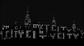 Modern stad på natten. Arkivbilder