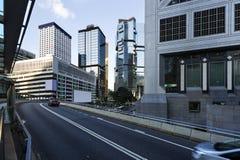 Modern stad under den blåa himlen, Hong Kong, Royaltyfria Foton
