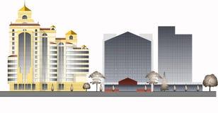 Modern stads- arkitektur 2 Royaltyfri Foto