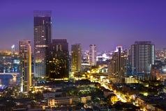 Modern stads- stadshorisont, Bangkok, Thailand Royaltyfri Foto