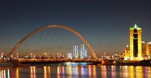 Modern stadshorisont Astana Kasakhstan Fotografering för Bildbyråer