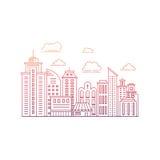 Modern stadslinje Royaltyfri Bild